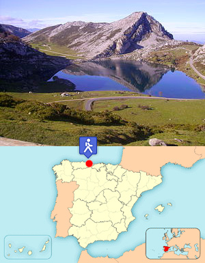 Lagos de Covadonga - By Pelayo Alonso Huerta (Own work) [GFDL (http://www.gnu.org/copyleft/fdl.html) or CC BY-SA 4.0-3.0-2.5-2.0-1.0 (http://creativecommons.org/licenses/by-sa/4.0-3.0-2.5-2.0-1.0)], via Wikimedia Commons