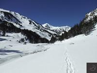 Raquetas de nieve en el pico de mortiers por el Valle de Galba