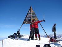 Toubkal (4.165 m) y los cuatro miles del Atlas