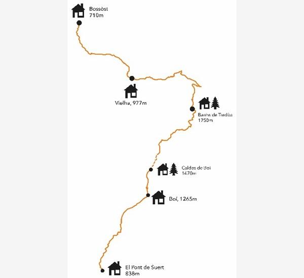Caldes De Boi Mapa.Senderismo Net Camins Via Calda